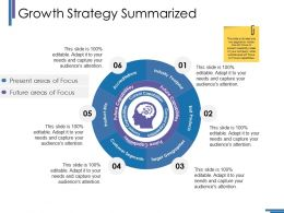 Growth Strategy Summarized Ppt Gallery Slideshow