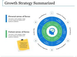 Growth Strategy Summarized Ppt Show