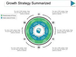 Growth Strategy Summarized Ppt Slides Shapes