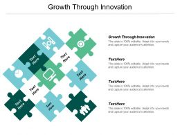 Growth Through Innovation Ppt Powerpoint Presentation File Example Cpb