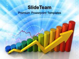 Growth triple bar graphs powerpoint templates finance ppt designs