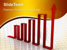 Growth vertical bar graphs templates upward arrow business marketing ppt designs Powerpoint