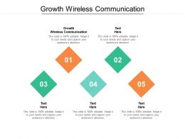 Growth Wireless Communication Ppt Powerpoint Presentation Infographics Cpb