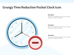 Grungy Time Reduction Pocket Clock Icon
