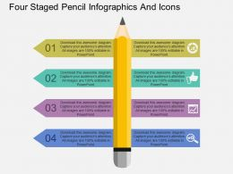 Gs Four Staged Pencil Infographics And Icons Flat Powerpoint Design