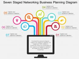 gs Seven Staged Networking Business Planning Diagram Flat Powerpoint Design