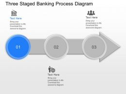 gs Three Staged Banking Process Diagram Powerpoint Template