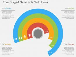 Gt Four Staged Semicircle With Icons Flat Powerpoint Design