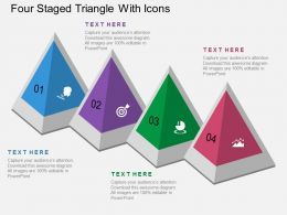 Gt Four Staged Triangle With Icons Flat Powerpoint Design