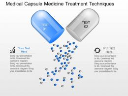 gt Medical Capsule Medicine Treatment Techniques Powerpoint Template