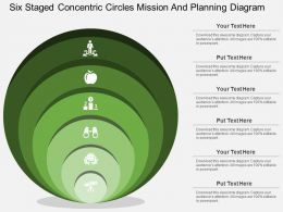 gt Six Staged Concentric Circles Mission And Planning Diagram Flat Powerpoint Design