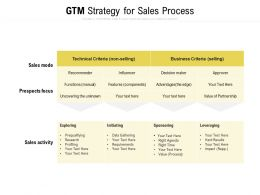 GTM Strategy For Sales Process