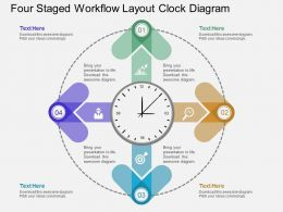 Gu Four Staged Workflow Layout Clock Diagram Flat Powerpoint Design