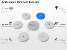 gu Multi Staged Mind Map Diagram Powerpoint Template