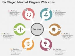 gu Six Staged Metaball Diagram With Icons Flat Powerpoint Design