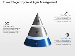 gu Three Staged Pyramid Agile Management Powerpoint Template
