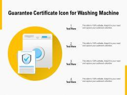 Guarantee Certificate Icon For Washing Machine