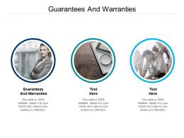 Guarantees And Warranties Ppt Powerpoint Presentation Pictures Examples Cpb