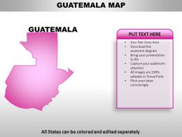 Guatemala Country PowerPoint Maps