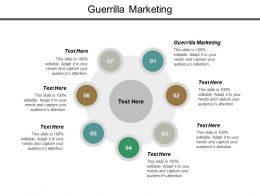 Guerrilla Marketing Ppt Powerpoint Presentation Layouts Professional Cpb
