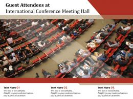 Guest Attendees At International Conference Meeting Hall