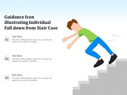 Guidance Icon Illustrating Individual Fall Down From Stair Case