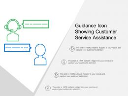 Guidance Icon Showing Customer Service Assistance