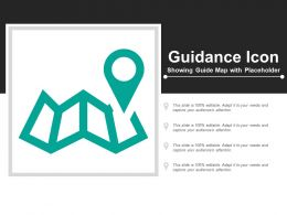 Guidance Icon Showing Guide Map With Placeholder