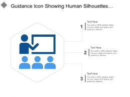 Guidance Icon Showing Human Silhouettes With Blackboard
