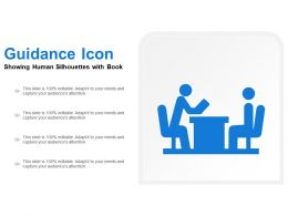 Guidance Icon Showing Human Silhouettes With Book