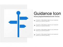 Guidance Icon Showing Signpost Multidirections With 3 Arrows