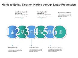 Guide To Ethical Decision Making Through Linear Progression