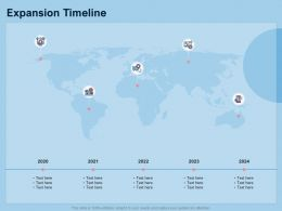 Guide To International Expansion Strategy Business Expansion Timeline Ppt Microsoft