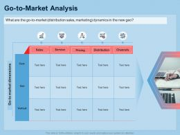 Guide To International Expansion Strategy Business Go To Market Analysis Ppt Template