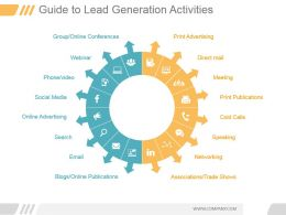 Guide To Lead Generation Activities Ppt Examples Professional