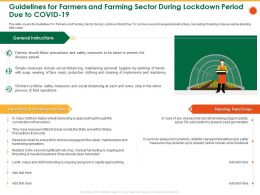 Guidelines For Farmers And Farming Sector During Lockdown Period Due To Covid 19 May Ppt Styles