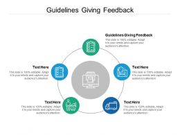 Guidelines Giving Feedback Ppt Powerpoint Presentation Summary Gallery Cpb