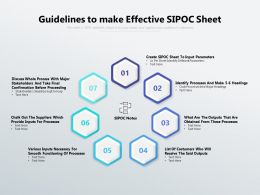Guidelines To Make Effective SIPOC Sheet