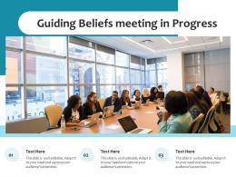 Guiding Beliefs Meeting In Progress