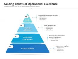 Guiding Beliefs Of Operational Excellence