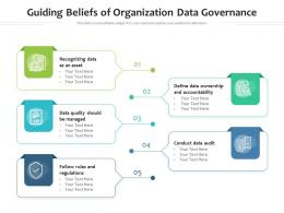 Guiding Beliefs Of Organization Data Governance