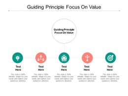 Guiding Principle Focus On Value Ppt Powerpoint Presentation Pictures Demonstration Cpb