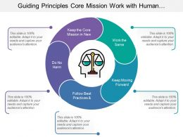 Guiding Principles Core Mission Work With Human Head And Balance Scale