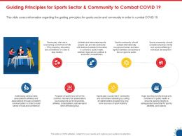 Guiding Principles For Sports Sector And Community To Combat Covid 19 Ppt Designs