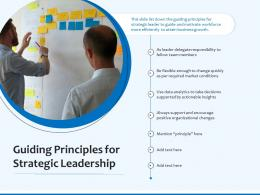Guiding Principles For Strategic Leadership
