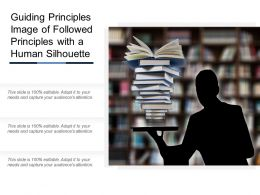 Guiding Principles Image Of Followed Principles With A Human Silhouette
