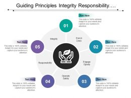 Guiding Principles Integrity Responsibility Engage Enrich Operate With Hands Image