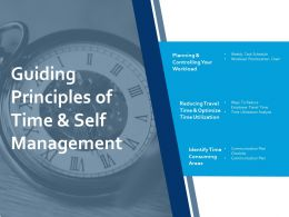 Guiding Principles Of Time And Self Management Ppt Portfolio Display
