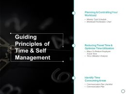 Guiding Principles Of Time And Self Management Ppt Powerpoint Presentation Gallery Designs Download