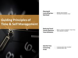 Guiding Principles Of Time And Self Management Ppt Styles Diagrams